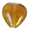 Glass Pressed Beads 10x10mm Heart Olive